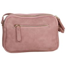 Sac zippé rectangle rose avec triple compartiment
