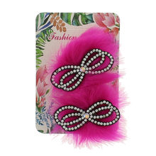Assortiment barrette cheveux nœud strass fourrure