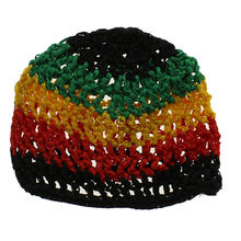 Bonnet filet au crochet multicolore pour cheveux