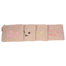 "Assortiment pochette en toile ""LIKE A ROCK STAR"""