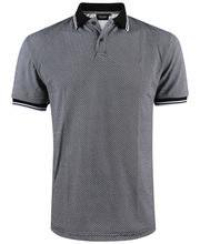 Polo coupe slim fit noir à imprimé fantaisie