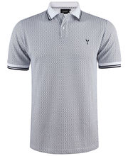 Polo coupe slim fit blanc à imprimé LABHY