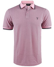 Polo coupe slim fit rose à imprimé LABHY