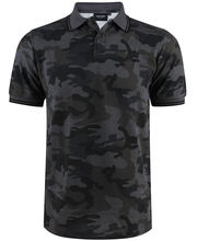 Polo coupe slim fit gris à imprimé camouflage