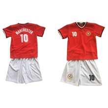 Ensemble maillot de football rouge avec short blanc MANCHESTER