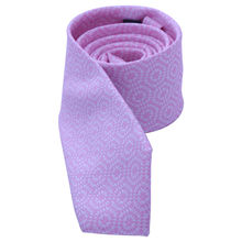Cravate 100% polyester rose avec motif abstrait