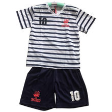 Ensemble maillot de football rayures avec short France