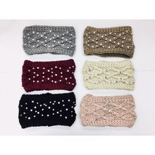 Assortiment bandeau tricoté torsades embelli strass brillants