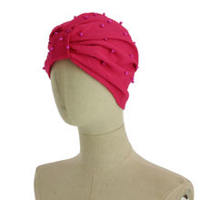Assortiment bonnet turban parsemé perles fantaisies