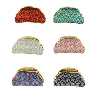 Assortiment pince cheveux type crabe motif paillettés