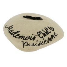 "Assortiment béret inscription ""Mademoiselle Parisienne"""