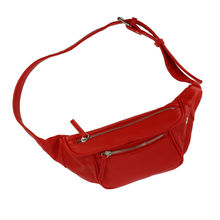 Sac banane 2 compartiments avec sangle réglable rouge