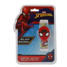 Montre digitale slap plastique imprimé Spiderman