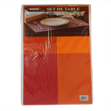 Set de table en plastique motif carreau de 30 x 45 cm