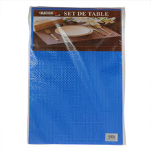 Set de table en plastique couleur unie de 30 x 45 cm