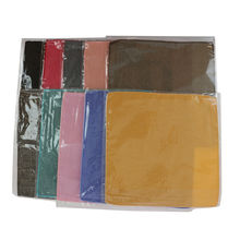 Assortiment pochette de costume carré couleur unie