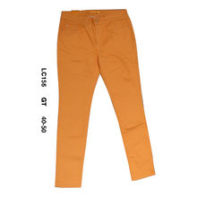 Pantalon coupe slim uni orange 5 poches en grande taille