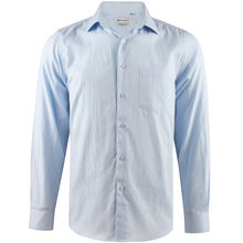 Chemise coupe regular bleu ciel en coton oxford royal
