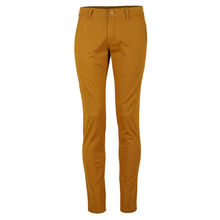 Pantalon chino coupe semi-slim uni jaune taille 32-38