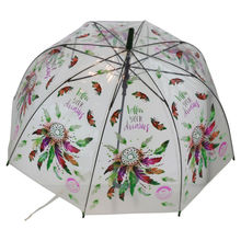 Parapluie cloche transparent design coloré attrape rêves