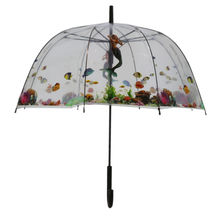Parapluie cloche transparent illustration vie sous-marine