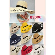Chapeau capeline large bord avec inscription Dolce Vita