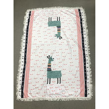 Serviette de plage forme en rectangle motif mignon lama