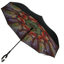 Parapluie inversé polyester illustration photo femme