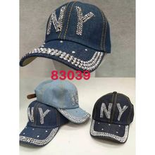 Assortiment casquette jean NY embellie strass brillant