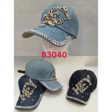 Assortiment casquette jean HEY embellie strass brillant