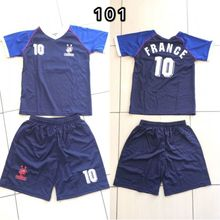 Ensemble maillot de football Equipe de France n°10