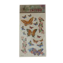Tatouage temporaire design en papillons multicolores