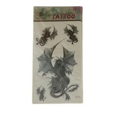 Autocollant de tatouage temporaire motif dragon