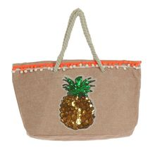 Assortiment sac de plage rehaussé ananas en sequins