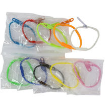 Assortiment bracelet zip en plastique fermoir par clip