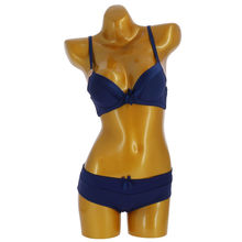Ensemble soutien-gorge push up avec shorty marine