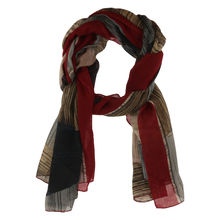 Assortiment foulard en coton et viscose motif color block