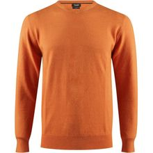 Pull col v en maille fine couleur orange vintage