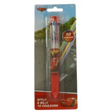 Stylo à bille 10 couleurs en 1 Cars Disney Flash McQueen