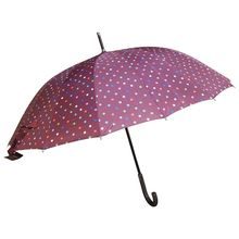 Assortiment parapluie long imprimé à pois multicolores