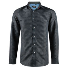Chemise en slim fit marine imprimée fantaisie all over