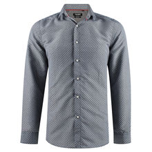 Chemise en slim fit gris imprimée fantaisie all over
