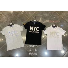 T-shirt en coton doux avec un imprimé «NEW YORK CITY»