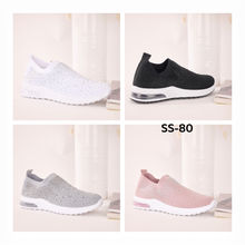 Sneakers slip-on recouverte de strass brillant taille 36-41