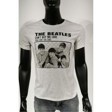 T-shirt ras du cou en coton à imprimé THE BEATLES gris