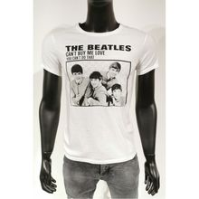 T-shirt ras du cou en coton à imprimé THE BEATLES blanc