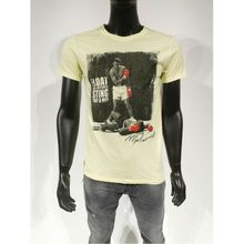 "T-shirt blanc Mohamed Ali ""Float like a butterfly sting like a bee"""