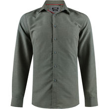 Chemise slim fit vert avec un micro-impression all-over