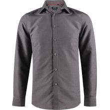 Chemise slim fit gris avec un micro-impression all-over