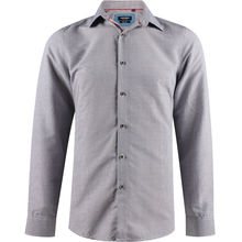 Chemise slim fit blanc avec un micro-impression all-over